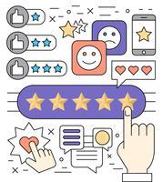 Icone di valutazione della qualità lineare