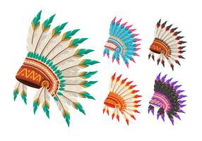 Nativo americano indiano capo copricapo vettore