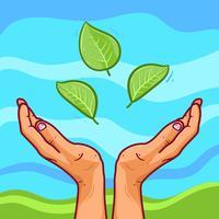 Illustrazione di mani curative