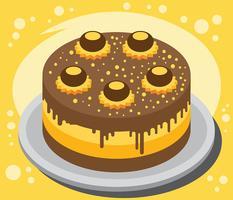 Illustrazione di torta Buckeye vettore