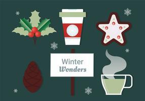 Elementi di Natale vettoriali Design gratuito