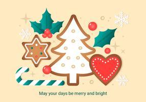 Vettore gratuito del fondo degli elementi di Natale
