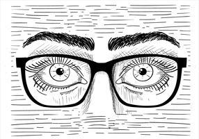 Illustrazione disegnata a mano degli occhi di vettore