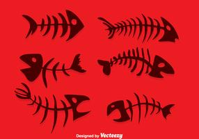 vettore di lisca di pesce silhouette