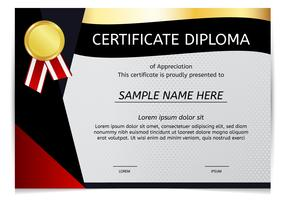 Certificato Diploma Vector