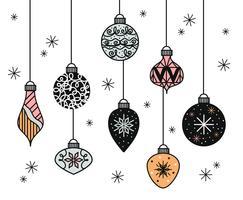 Insieme di vettore delle palle di Natale