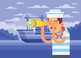 Illustrazione di marinaio vettore