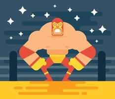 Illustrazione del lottatore messicano