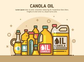 Illustrazione di olio di canola vettore