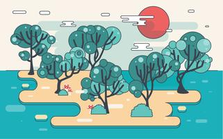 vettore dell'illustrazione dell'albero di gomma