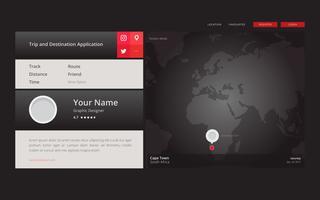 Temi del sito web di localizzazione e meteo di mappe globali vettore