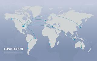 Fondo di vettore del collegamento di mappe globali.