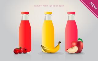 Modello di pubblicità del succo dei mirtilli vettore