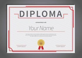Illustrazione libera del modello del diploma