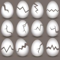 Set di uova rotte di vettore