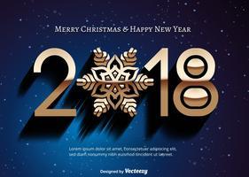 2018 illustrazione di felice anno nuovo