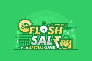 Illustrazione di Flash prezzo verde