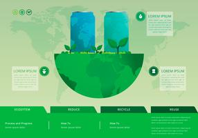 Ricicla e riutilizza la scatola di latta e altri rifiuti