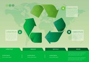 Vita della natura Riciclare Processo. vettore