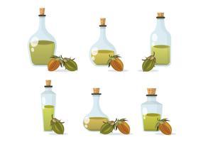 Illustrazione vettoriale di olio di jojoba