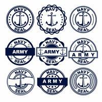 Vettori del distintivo della guarnizione della marina