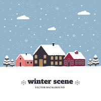 Inverno scena vettoriale