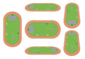Pista e campo Vector Set