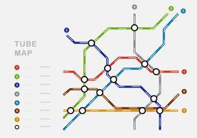 Mappa della metropolitana complessa