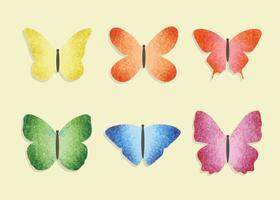 Vettore di farfalle colorate gratis