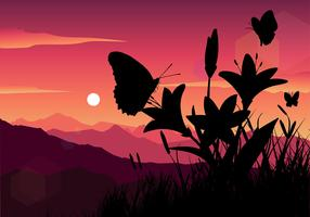 Mariposa Silhouette vettoriali gratis