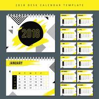 Vettore 2018 del calendario stampabile