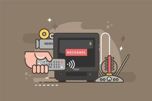 Illustrazione di Remote TV vettore