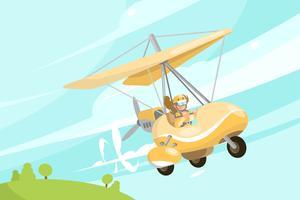 Illustrazione dell'aliante vettore