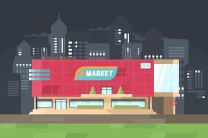 Illustrazione del centro commerciale vettore
