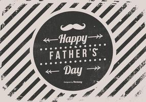 Illustrazione felice di festa del papà di stile dei retro pantaloni a vita bassa