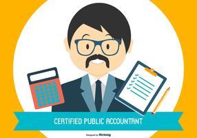 CPA - Illustrazione del ragioniere pubblico certificato vettore