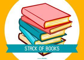 Pila di libri colorati vettore