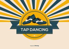 Retro stile Tap Dance Illustration vettore