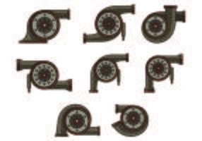 Set di icone di turbocompressore