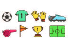 Set di icona del portiere vettore