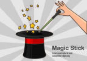 Illustrazione del concetto di bastone magico vettore