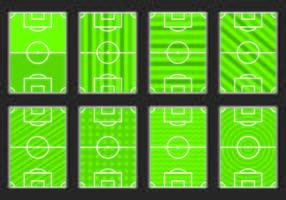Set di icona del campo di calcio