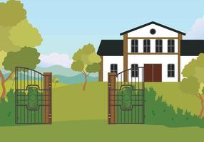 Illustrazione libera del cancello aperto