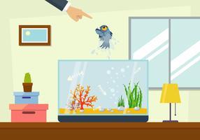 Vettore dell'illustrazione dell'animale domestico di Piranha