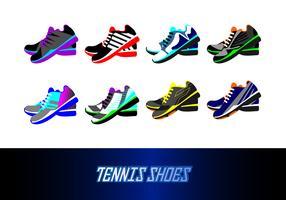 Vettore delle scarpe da tennis