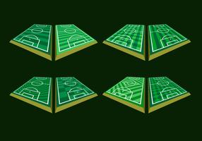 Vettore libero di prospettiva al suolo di calcio