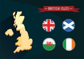 Vettore delle isole britanniche