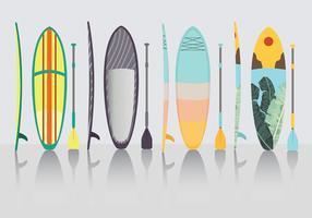 pacchetto di vettore di paddle board