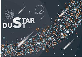 disegno vettoriale di polvere di stelle