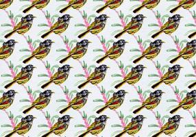 Uccelli vettoriali gratis con motivo a foglie